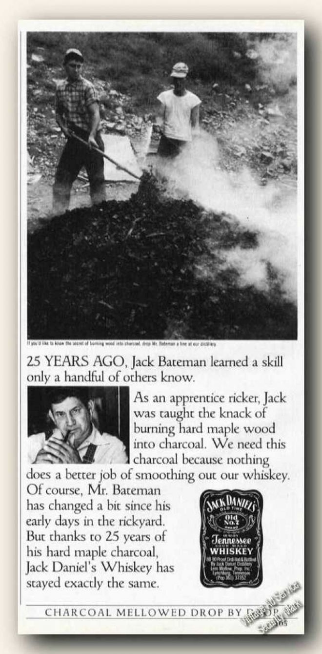 vintage drinks advertisements of the 1980s page 2 jack daniels mr bateman making maple charcoal 1985