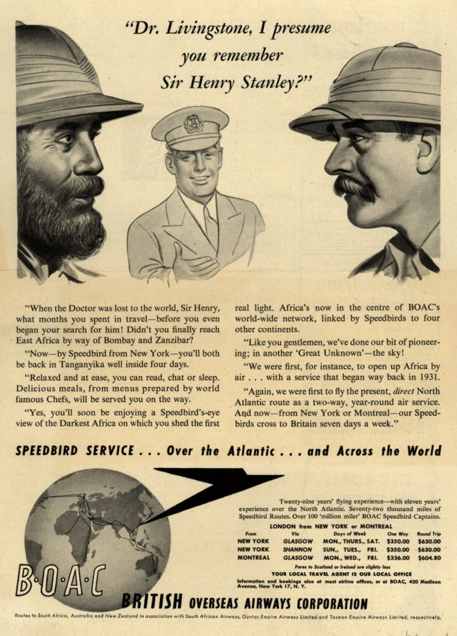 Livingstone I Presume : Vintage Airlines and Aircraft Ads of the 1940s (Page 85)