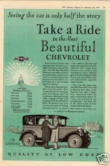 "Chevrolet Landau Car Ad ""Take a Ride... (1927)"