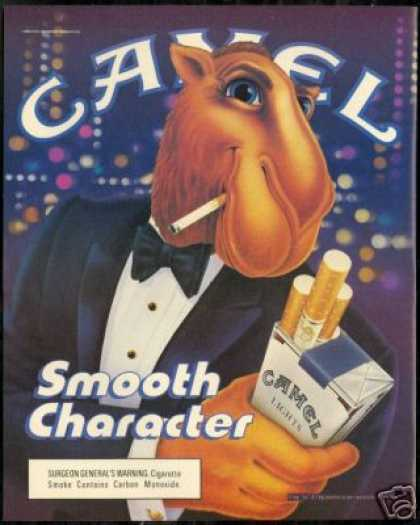 Joe Camel Smooth Character Tux Cigarette (1990)