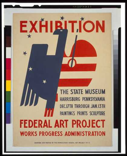 Exhibition – The State Museum, Harrisburg, Pennsylvania – Paintings, prints, sculpture. (1936)