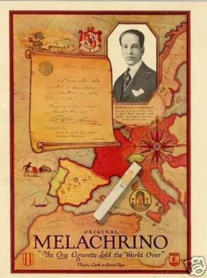 Melachrino Cigarettes Color (1926)