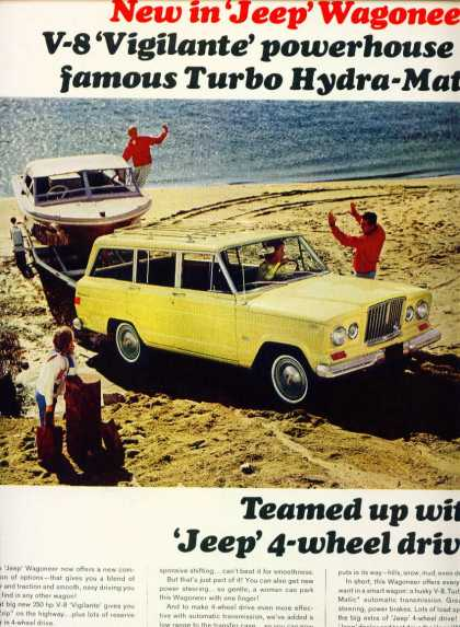 Jeep Wagoneer On Beach W Vigilante V8 Engine (1965)