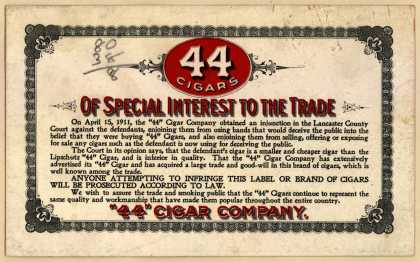 """44"" Cigar Co.'s Cigars – Blotter"