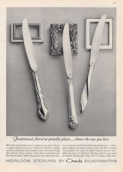 Onieda Herloom Sterling Case Knives (1964)