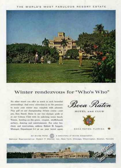 Boca Raton Hotel & Club Photos (1960)