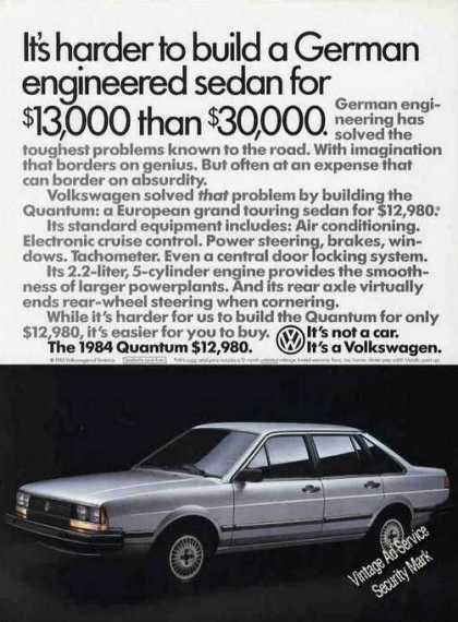 84 Quantum 13m Hard Than 30m Vw Volkswagen (1983)