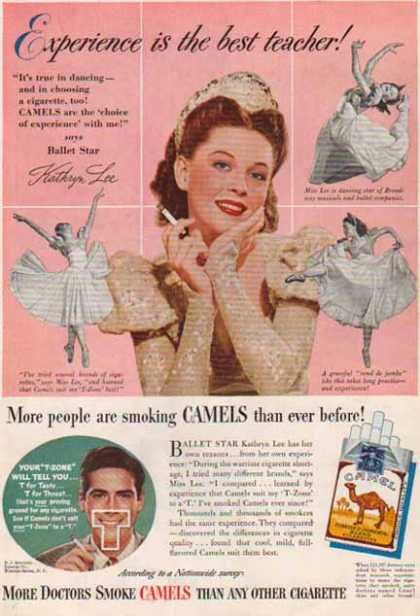 Camels Cigarettes – Kathryn Lee, Ballet Star – Sold (1947)