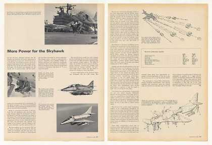US Navy Douglas A-4 Skyhawk Aircraft 3-Pg Article (1966)