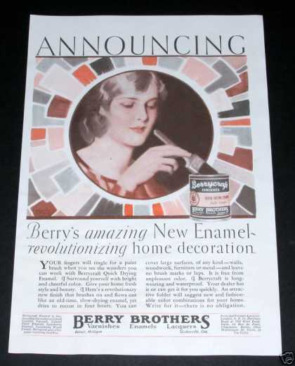 Berry Brothers, Berrycraft Paint (1929)