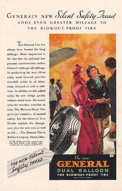 General's New Dual Balloon Blowout Proof Tire (1934)