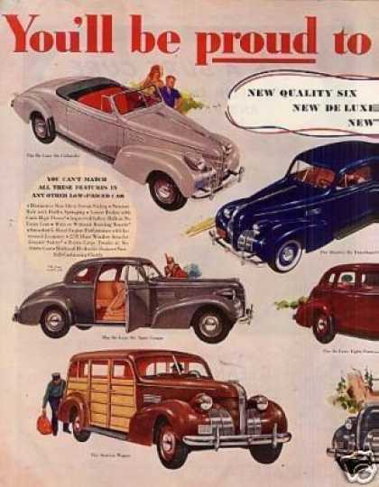 Pontiac Cars 2 Page Color Ad 8 Models (1939)