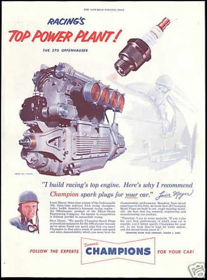 Indianapolis 500 Louis Meyer Champion Plug (1952)