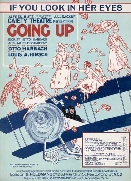 Some Daring Yet Foolhardy Young Ladies Pose on the Top Wing of a Bi-Plane