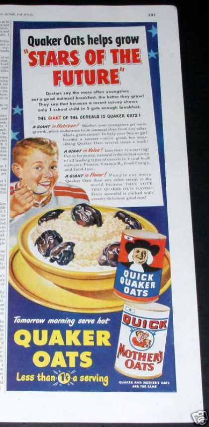 Quaker Quick, Mothers Oats (1950)