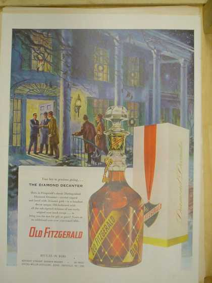 Old Fitzgerald whiskey Diamond decanter. (1953)