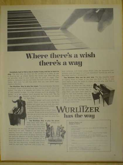 Wurlitzer Pianos. Where there's a wish, there's a way (1970)