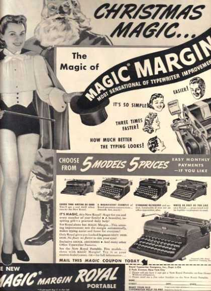 Royal (New Magic Margin Royal Portable typewriters) (1939)