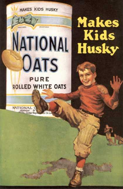 National Oats, Cereal Porridge Oats Breakfast, USA (1920)