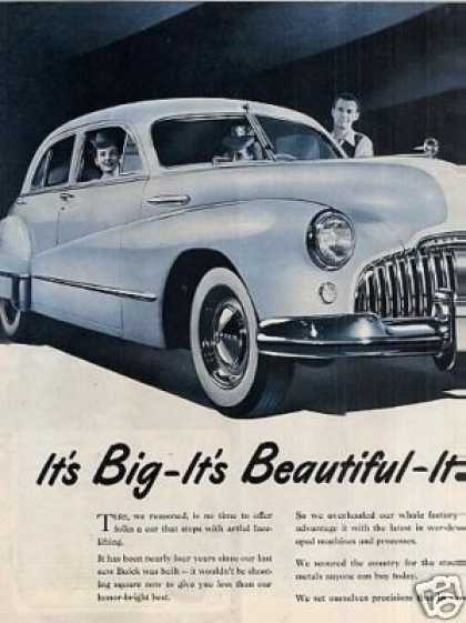 Buick Car Ad Centerfold (1946)