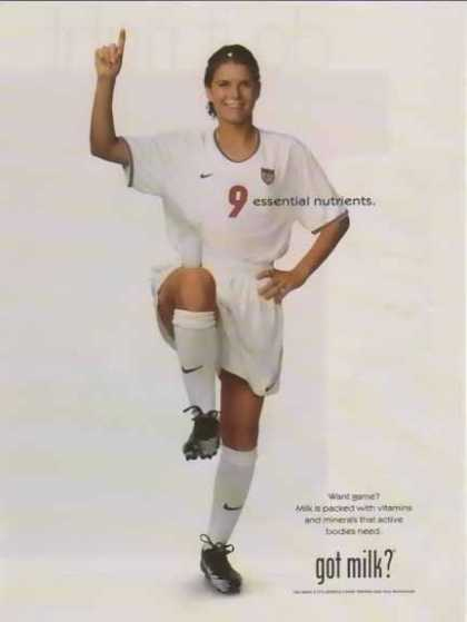 Mia Hamm &#8211; Got Milk? (1999)