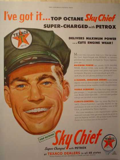 Texaco Sky Chief super charged with Petrox (1954)