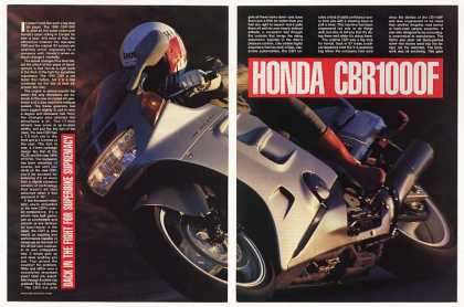 Honda CBR1000F Motorcycle 7-Page Photo Article (1990)