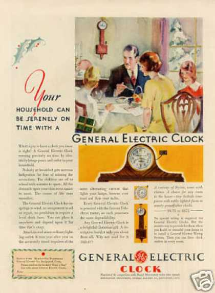 General Electric Clock Color (1930)