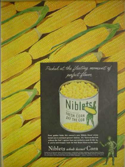 Green Giant Niblets Fresh Corn off the cob Very colorful (1945)