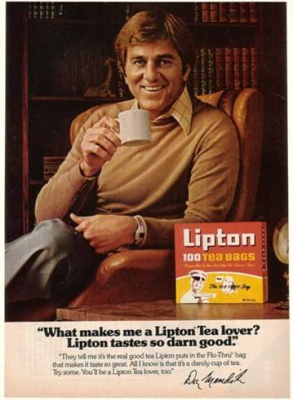 Don Meredith Photo Lipton Tea (1978)