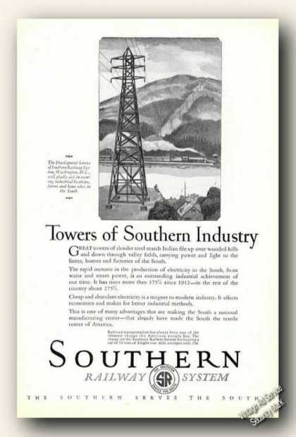 Southern Railway System Towers of Industry (1926)