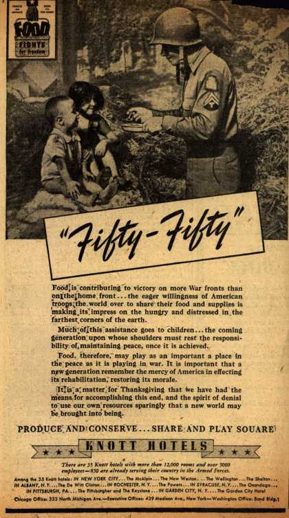 "Knott Hotel's Food – ""Fifty-Fifty"" (1943)"