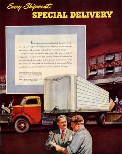 Trailmobile Semi Tractor Truck Delivery (1950)