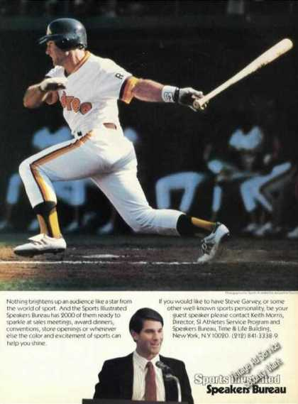 Steve Garvey Baseball Picture Advertising (1985)