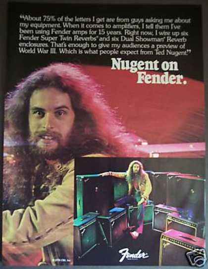 Ted Nugent Fender Guitar Amps Photo (1978)