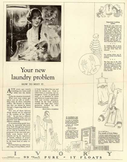 Procter & Gamble Co.'s Ivory Soap – Your new laundry problem (1924)