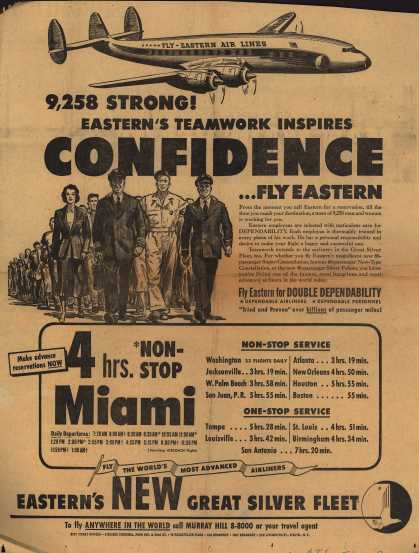 Eastern Air Lines – 9,258 Strong! Eastern's Teamwork Inspires Confidence... Fly Eastern (1953)