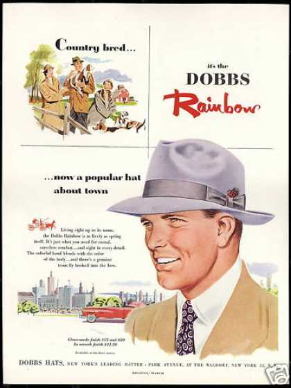 Dobbs Rainbow Mens Fashion Hat (1952)