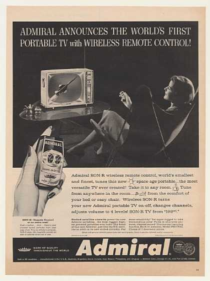 Admiral First Portable TV SON-R Remote Control (1959)
