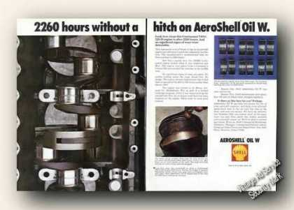 Aeroshell Oil W 2 Pg Aviation Oil Collectible (1972)