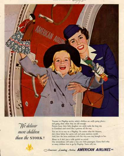 American Airlines – We Deliver More Children Than the Stork (1950)