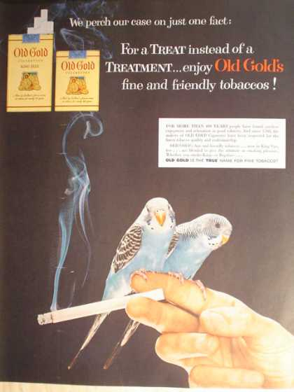 Old Gold Cigarettes with Parakeets (1954)