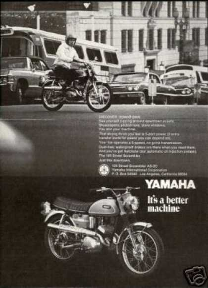 Yamaha 125 Street Scrambler Motorcycle AS-2C (1969)