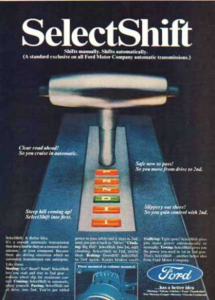 Ford – Automatic Transmissions – Select Shift Feature (1967)