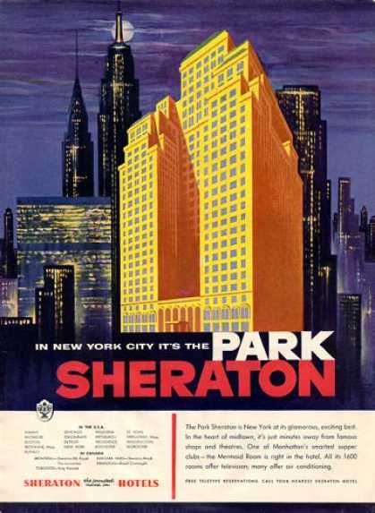Sheraton Park Hotel Manhattan New York (1954)