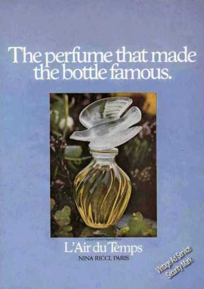 "L'air Du Temps ""Perfume Made the Bottle Famous Ad"" (1972)"
