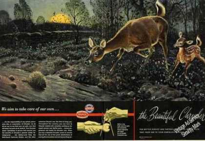 Beautiful Deer Art 2 Page Chrysler (1948)