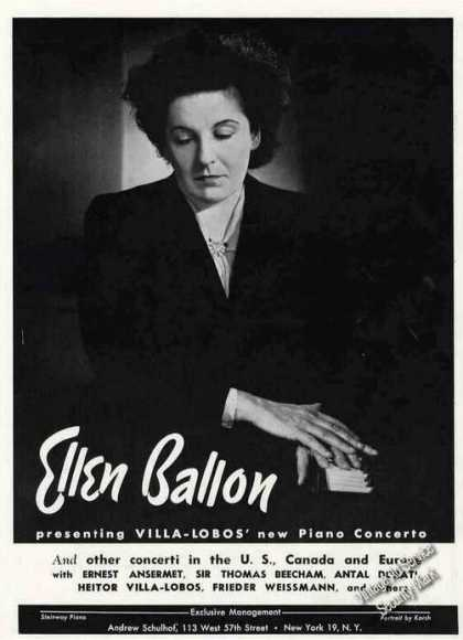 Ellen Ballon Photo Pianist Trade (1949)