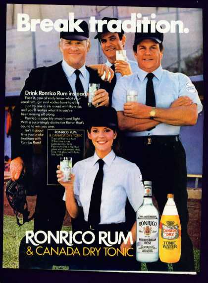 Pretty Woman Baseball Umpire In Ronrico Rum C (1982)