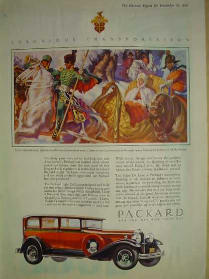 Packard Luxurious Transportation Automobile (1929)